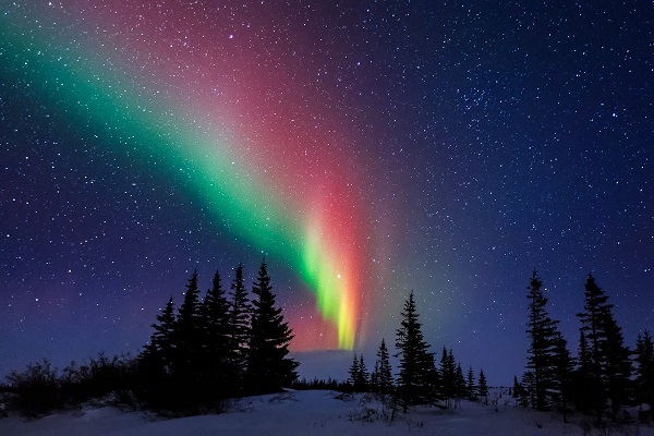 северное сияние, в каких странах можно увидеть, видео, фото