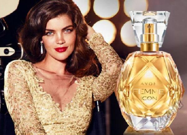 реклама - женская парфюмерная вода Avon Femme Icon