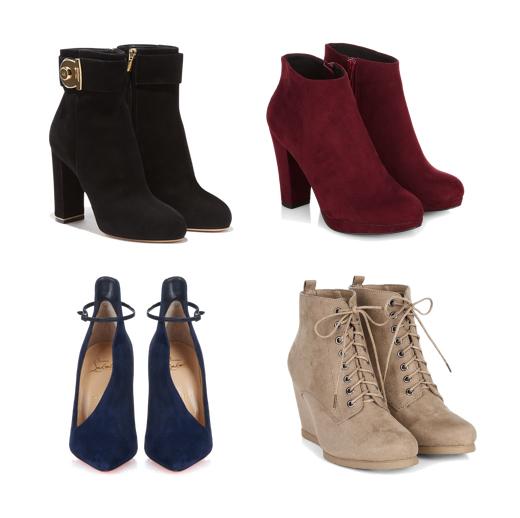 модные аксессуары на осень 2015 - замшевая обувь