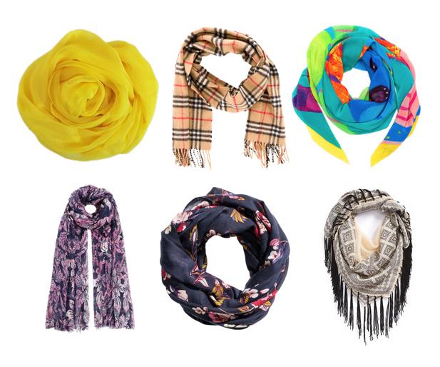 модные аксессуары на осень 2015 - шарфы
