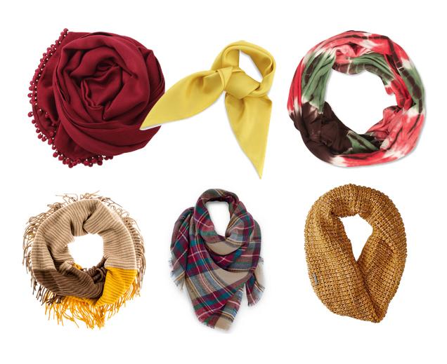 модные аксессуары осень 2015 - шарфы