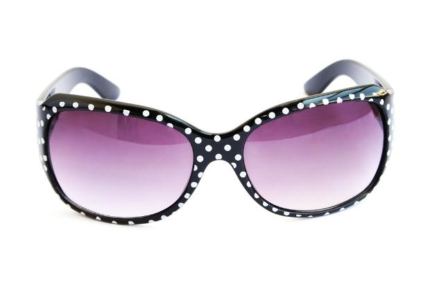 солнечные очки, оправа с принтом в горох