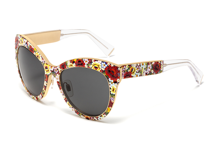 солнечные очки оправа с принтом