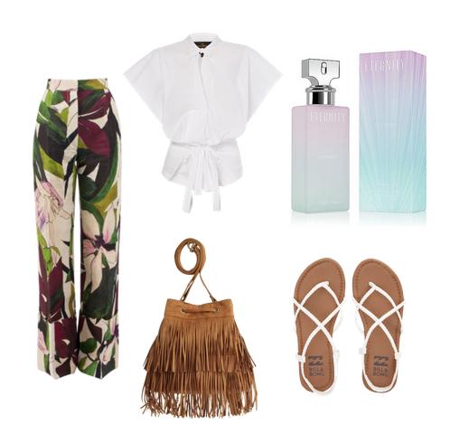 модные сеты 2016, образы на лето - брюки и блуза