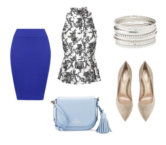 модные сеты 2016, образы на лето - юбка и топ с геометрическим принтом
