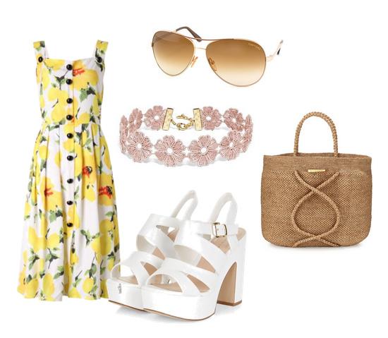 платье с принтом - модные сеты одежды лето 2016
