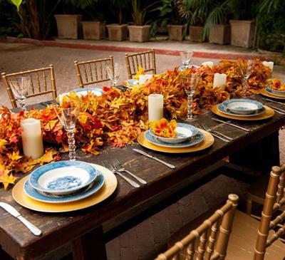 декор для свадьбы осенью