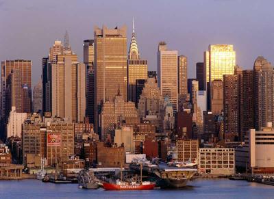 небоскребы, манхэттен, нью йорк