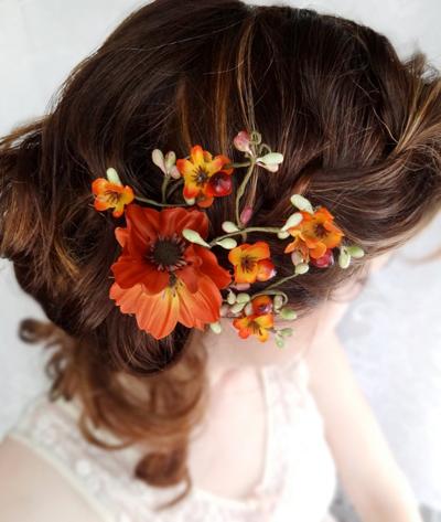 прическа невесты, осенняя свадьба