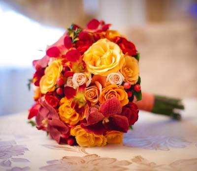 свадебный букет, осенняя свадьба