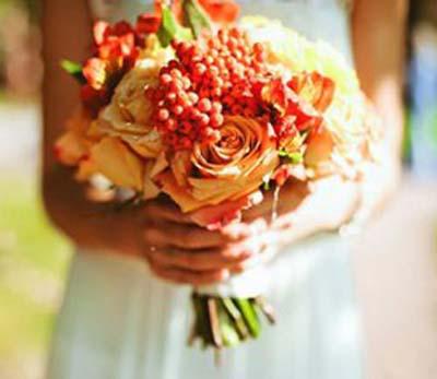 свадебный букет, осень