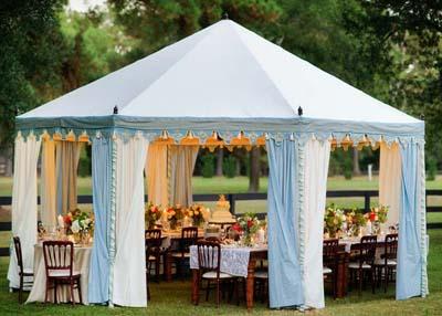 свадебный шатер, свадьба осенью