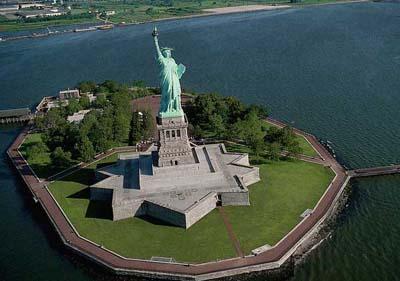 статуя свободы, либерти айленд, нью йорк