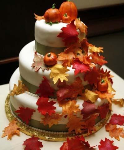 торт для осенней свадьбы