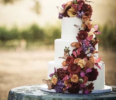 торт на осеннюю свадьбу