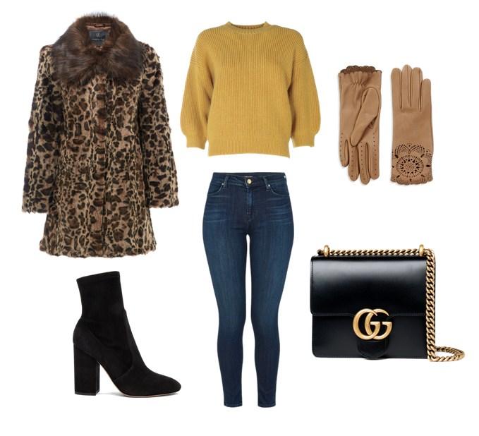 пальто с леопардовым принтом, с чем носить, модные сеты