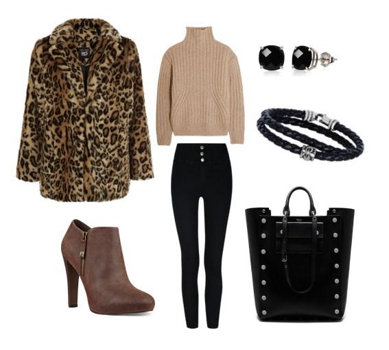 леопардовый принт в одежде, с чем носить, модные сеты