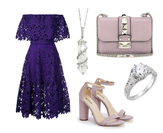 модный сет на лето - кружевное платье