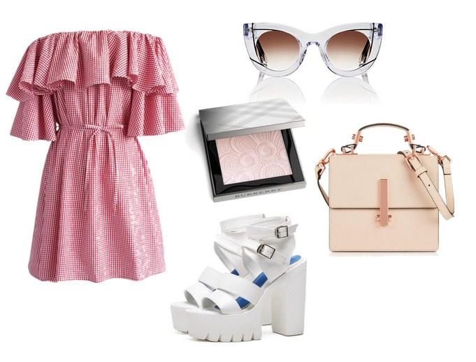 модный сет на лето - платье с воланом