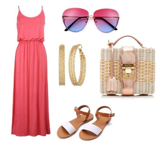 модный сет на лето - яркое платье