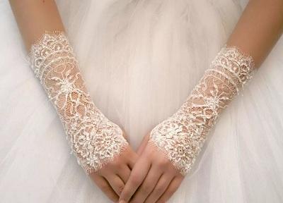 свадебные кружевные перчатки