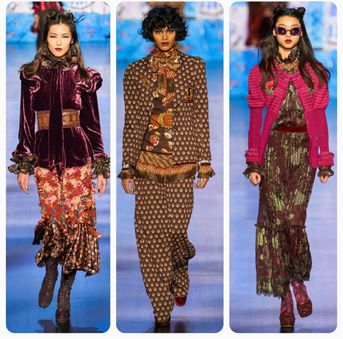 Модные тенденции осени 2017 - бархат, принт, объемные пальто, насыщенный цвет