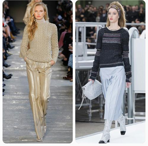 Max Mara, Chanel - модные трикотажные пуловеры