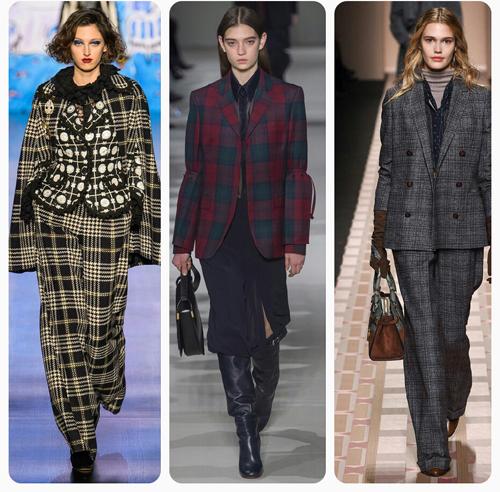 Victoria Beckham, Anna Sui, Trussardi - модный принт в клетку