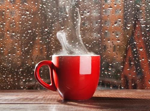кофе в дождливый день
