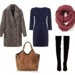 Пальто и платье — модный осенний сет
