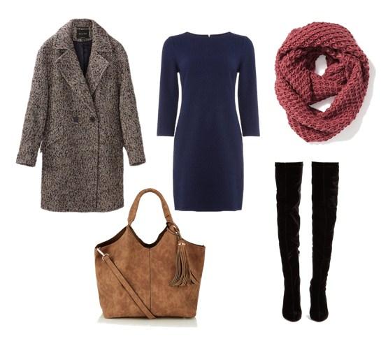 пальто и платье - модный осенний сет