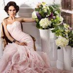 Розовое свадебное платье — выбор для романтичных натур