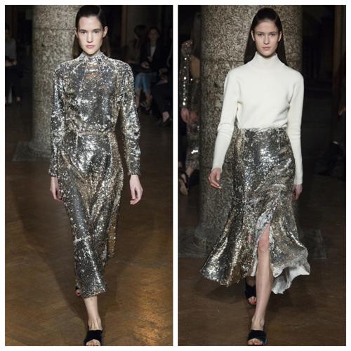 какое модное платье одеть на новый 2018 год - серебристый