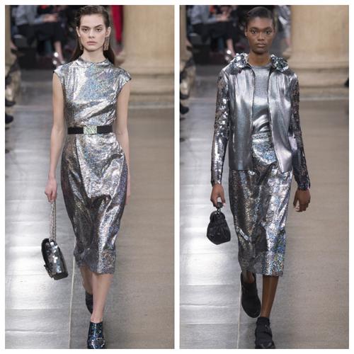 какое платье одеть на новый год - серебристые пайетки