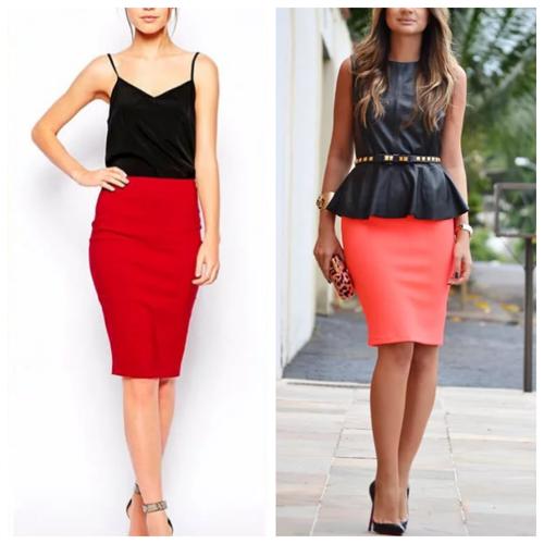 красная юбка-карандаш - с чем носить и сочетать (9)
