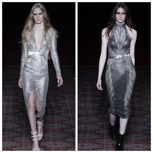 модные платья на новый год 2018 - серебристые пайетки