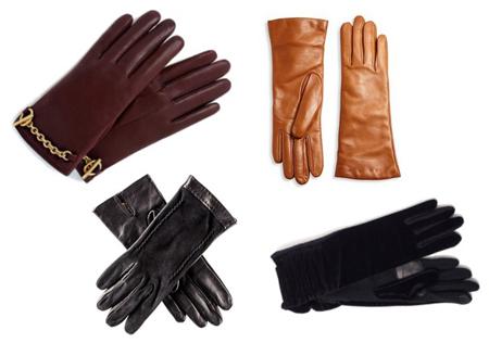 перчатки на осень - базовые цвета