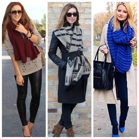 шарф - аксессуар для осени