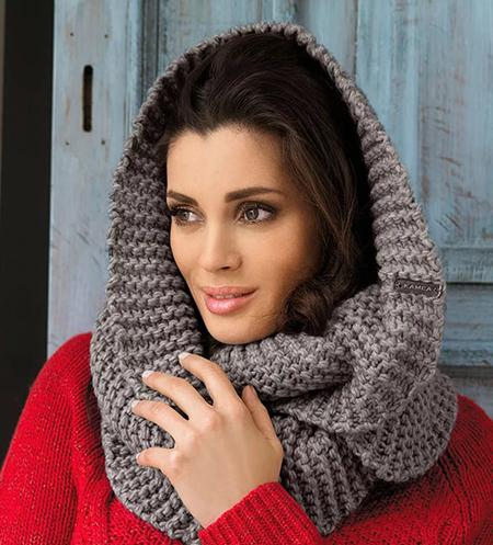 шарф снуд на голове