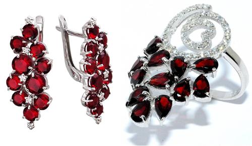 5f9bd5a68f08 Ювелирные украшения из серебра с натуральными драгоценными камнями ...