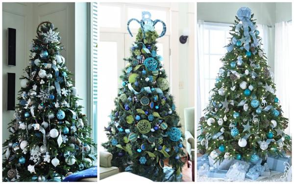 декор елки фото, дизайн елки на новый год