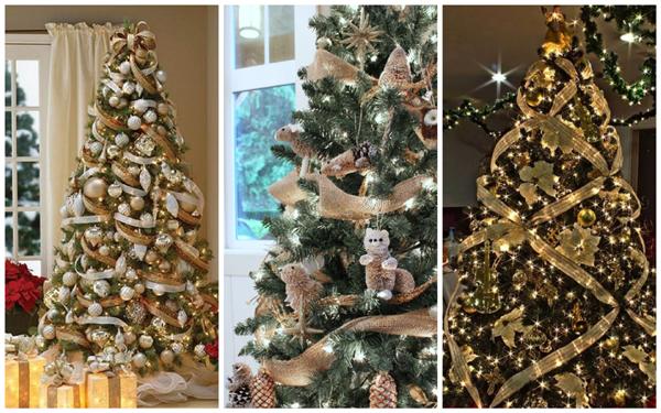 дизайн елки на новый год, декор елки на новый год