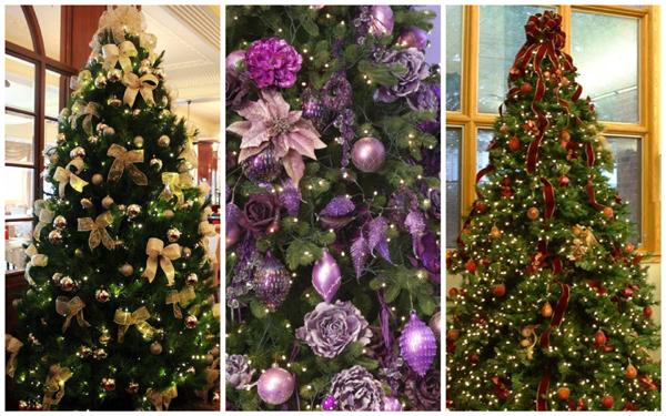 дизайн и декор новогодней елки, фото, идеи декора елки на новый год