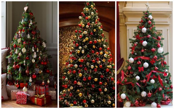 идеи декора елки, дизайн новогодней елки