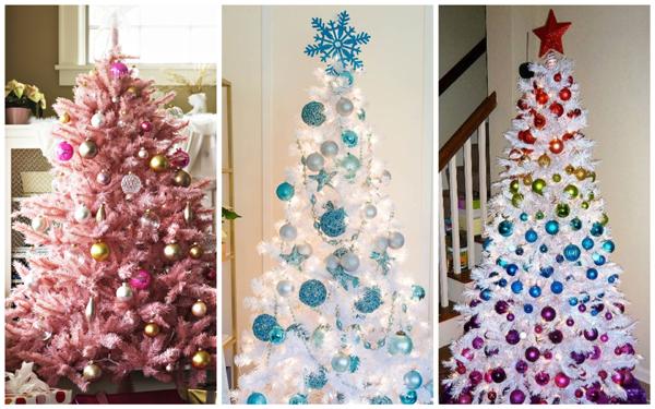 необычный дизайн новогодней елки, фото идеи