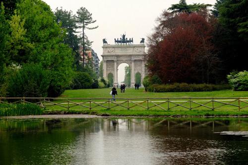 симплонский парк в милане