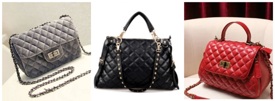 сумка стеганая, женская стеганая сумка