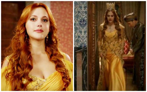 хюррем в желтом платье