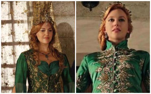 хюррем в зеленых платьях