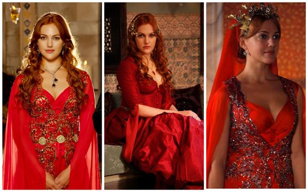 хюррем султан в красном платье